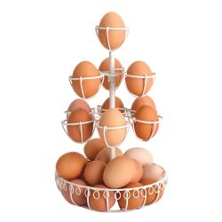Druciany stojak na jajka