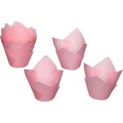 Papilotki różowe typu tulipan
