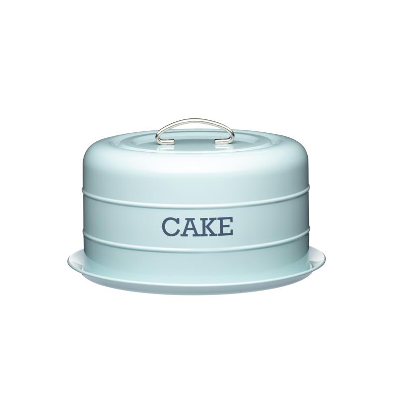 Pojemnik na ciasto niebieski