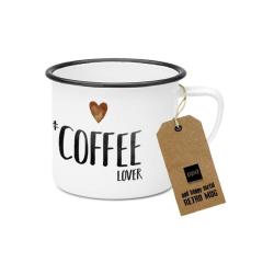 Metalowy kubek Coffee lover