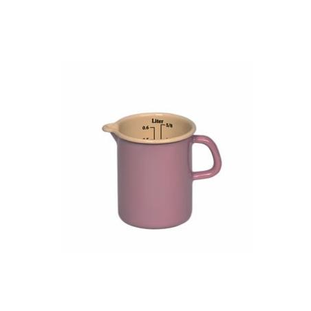 Różowe naczynie z miarką 0,5l Riess