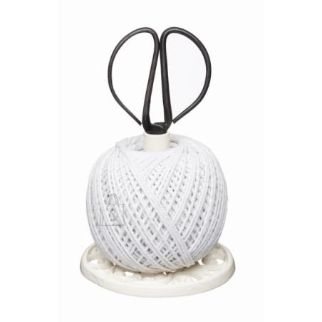 Żeliwny stojak na sznurek i nożyczki