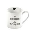 Kubek Life begins after COFFEE