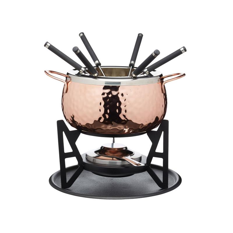 Miedziany zestaw do fondue Artesa