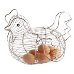 Koszyk na jajka - kura