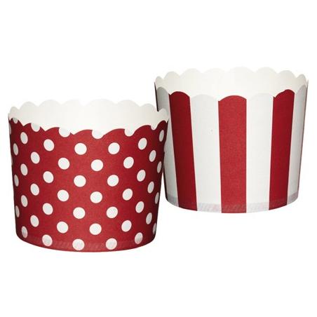 Kubeczki do muffinek czerwono-białe