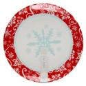 Porcelanowa patera ze śnieżynką