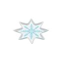 Talerz w kształcie śnieżynki
