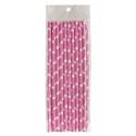 Słomki papierowe - różowe w serduszka