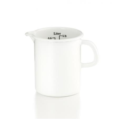 Białe naczynie z miarką 0,5l Riess