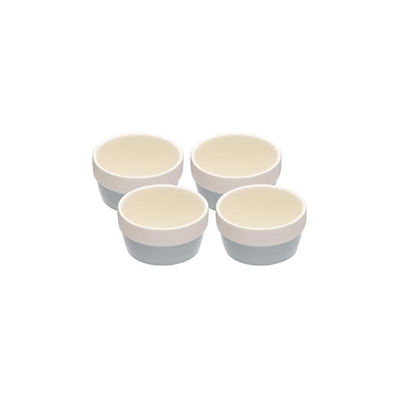 Kokilki biało-niebieskie (4 szt)