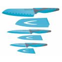 Zestaw noży - niebieski (3 szt)