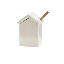 Pojemnik - domek z łyżeczką
