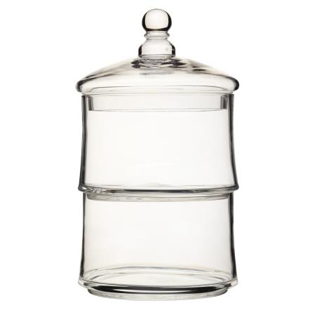 Szklany pojemnik dwupoziomowy