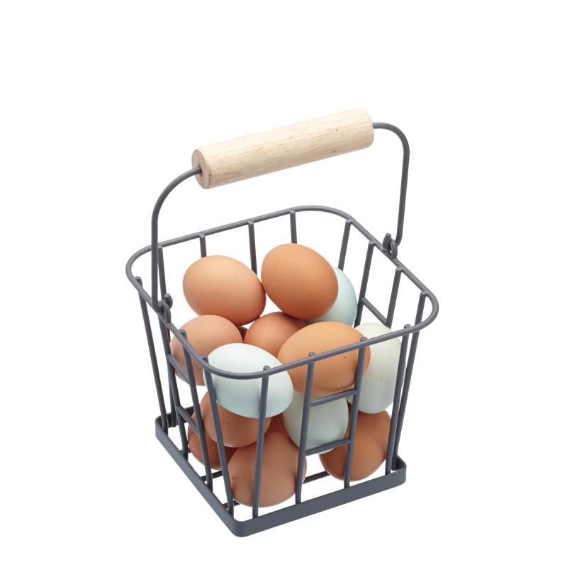 Metalowy koszyk na jajka